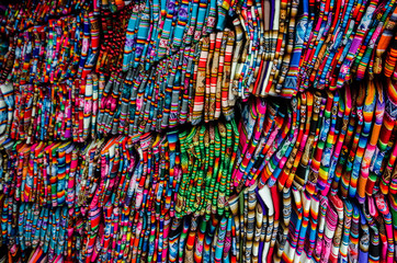A lot of bolivian and peruvian fabrics multicolors