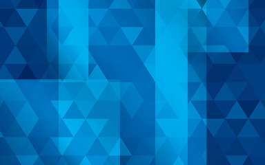 Abstract background of blue triangles