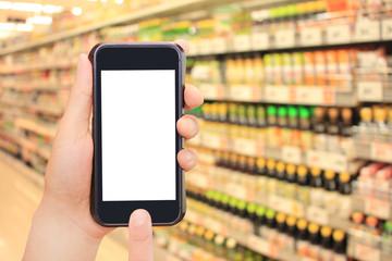 調味料とスマートフォンとインターネットショッピング Seasoning, smartphone and internet shopping