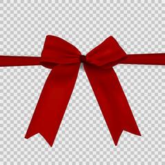 freigestellte rote Schleife - Schleifenband