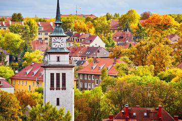 Obraz Szczecin cityscape in colorful autumn, Poland - fototapety do salonu