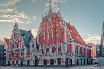 Wall Mural - Riga, Latvia. House Of The Blackheads At Town Hall Square