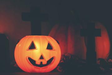 Halloween pumpkins, art picture for Halloween concept
