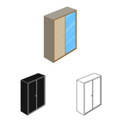 Vector design of bedroom and room icon. Set of bedroom and furniture stock vector illustration.