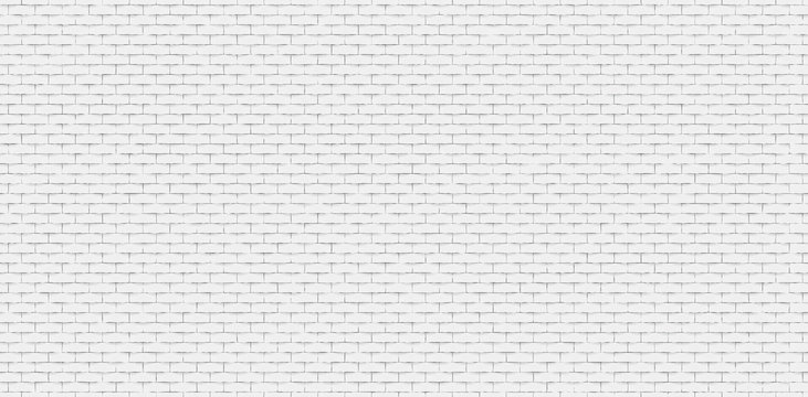 Seamless white brick wall texture or background with copy space for display of content design for advertisement product. Vector illustration