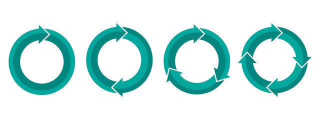 Set of circular arrows. Vector illustration.