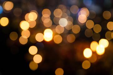 defocused of lamp light