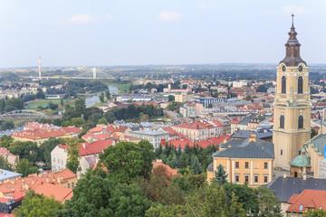 Fototapeta Przemysl, polish Podkarpacie. City Panorama from castle tower.