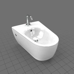 Narrow porcelain bidet
