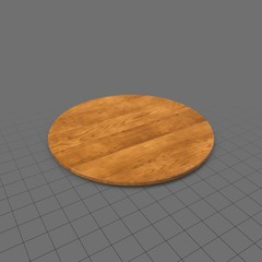 Round rotating tray
