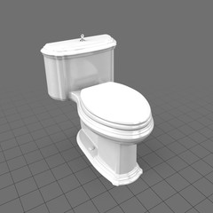 Modern toilet with lid closed