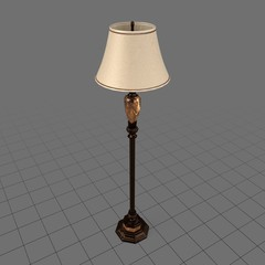 Unlit floor lamp