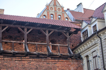 Wall Mural - Morning street in medieval town of old Riga city