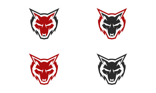 wolf head icon for logo