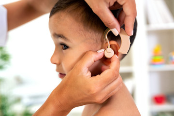 Placement of the hearing aid medical device