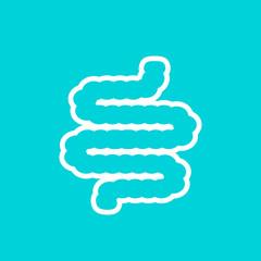 Intestine bowel vector icon