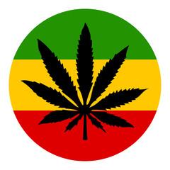 Marijuana vector symbol