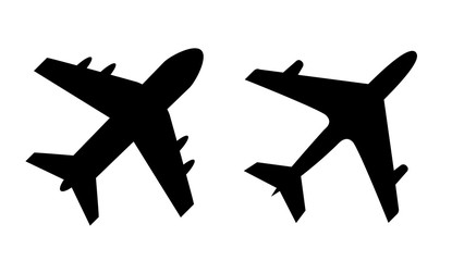Airplane vector silhouette icon