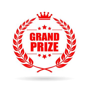 Grand prize laurel vector icon