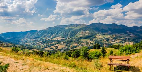 Panorama de la campagne du Cantal