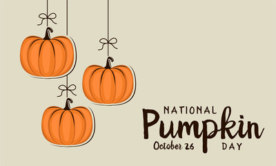 Pumpkin day card or background. vector illustration.