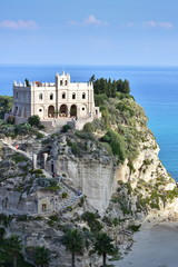 Santa Maria church,Tropea town in Calabria,Italy