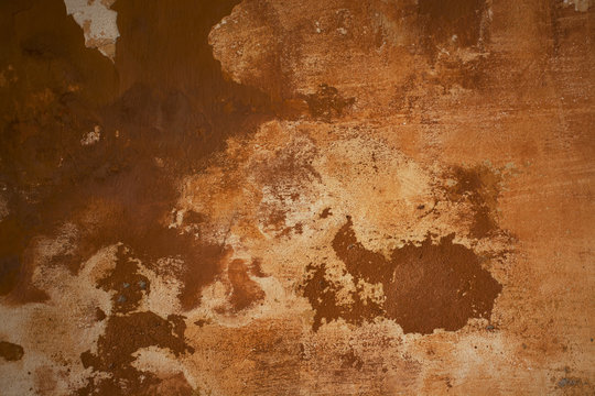 Grunge wall brown background. Abstract old texture with copy space