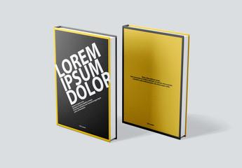 Maquetas de portadas y contraportadas de libros
