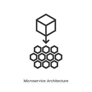 Microservice architecture vector icon, micro chips symbol. Modern, simple flat vector illustration for web site or mobile app