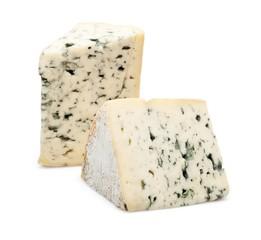 Two Pieces of Mountain Gorgonzola Cheese