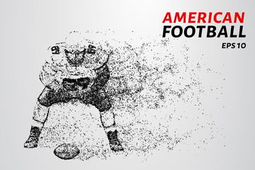 American football made up of particles. Vector illustration