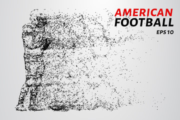 American football made up of particles. American football consists of dots and circles.