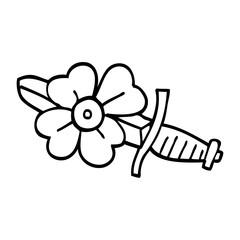 line drawing cartoon tattoo dagger symbol