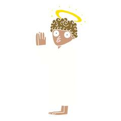 cartoon doodle angel