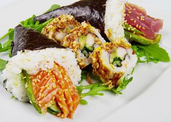 mixed dish of sushi food