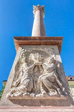 Mariensäule auf dem Franziskaner Platz nahe dem Hauptplatz in Bratislava