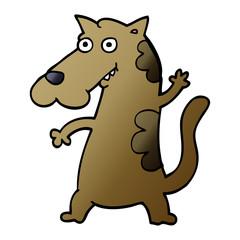 cartoon doodle dog