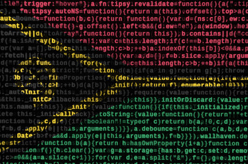 Vanuatu flag  is depicted on the screen with the program code. The concept of modern technology and site development