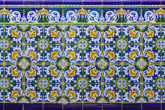 Ceramic tiles from a colonial house, Camaguey, cuba