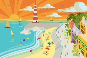 Beach Town Illustration