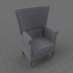 Modern wing chair 5