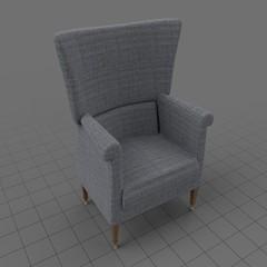 Modern wing chair 5
