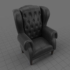 Tufted wing chair 3