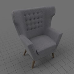 Modern wing chair 3