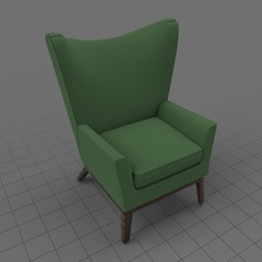 Modern wing chair 4