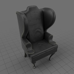 Curved wing chair