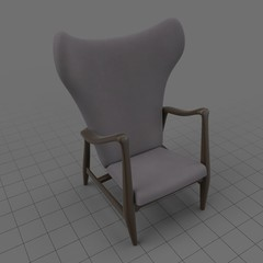 Modern wing chair 1