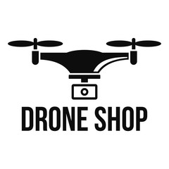 Drone shop logo. Simple illustration of drone shop vector logo for web design isolated on white background
