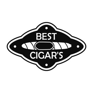 Best cuban cigar logo. Simple illustration of best cuban cigar vector logo for web design isolated on white background