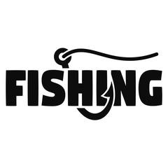Modern fish hook logo. Simple illustration of modern fish hook vector logo for web design isolated on white background